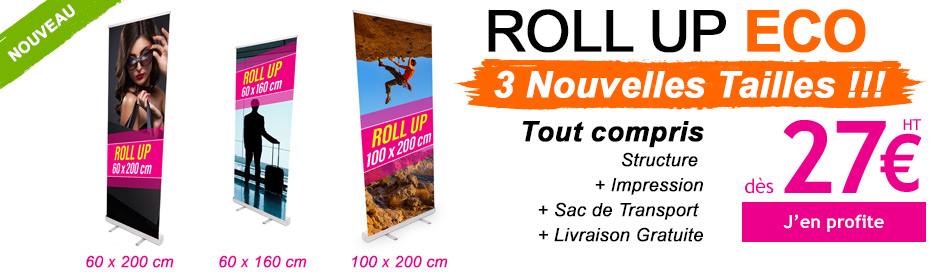 Nouvelles Tailles Roll Ups Eco