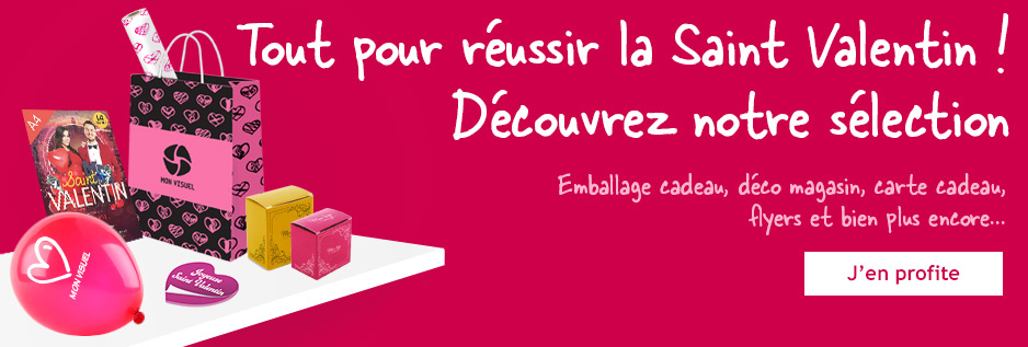 Supports de communication pour la saint valentin