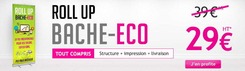 Impression roll up bâche eco