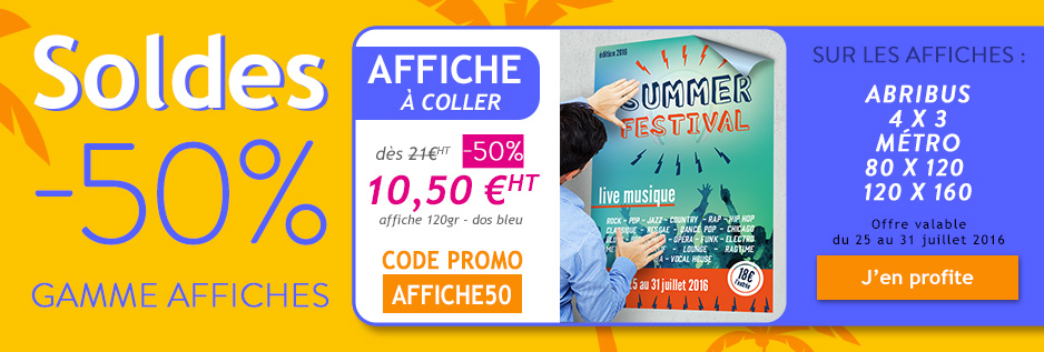 remise 50% gamme affiches