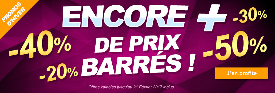 Promotions soldes hiver 2017