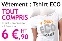 impression t-shirt eco pas cher