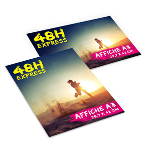 Affiches Express A3 Recto 48h