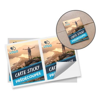 Cartes sticky repositionnables