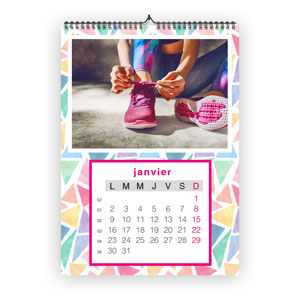 Impression calendrier spirale calendrier publicitaire for Calendrier mural pas cher