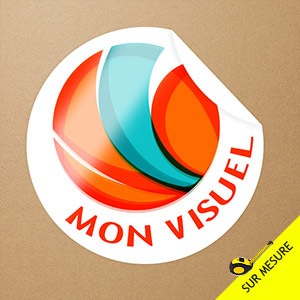 Sticker individuel rond
