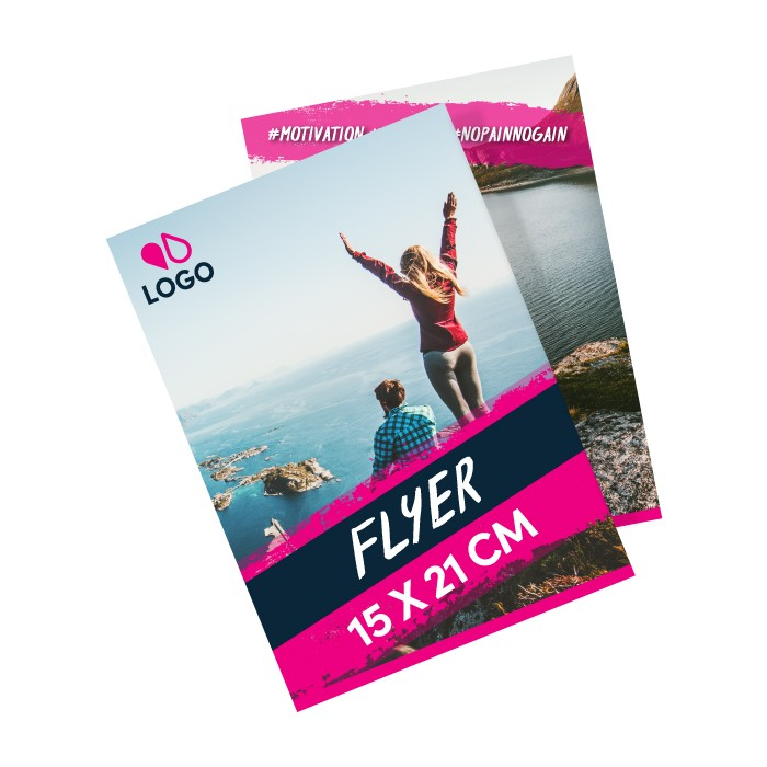 Flyer A5 250g recto verso – 100 ex