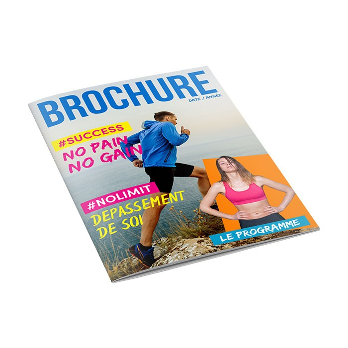 Brochure A6 8 pages sans couverture - 50 ex