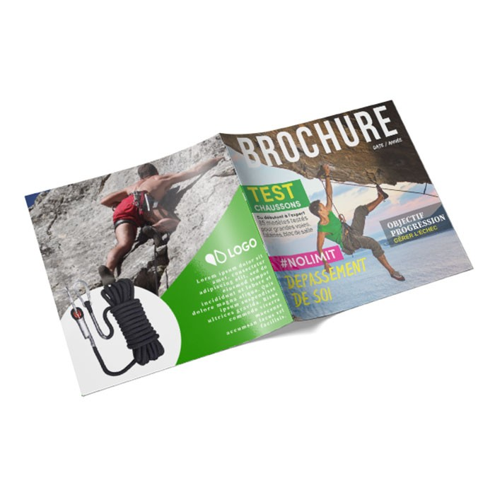 Brochure 21x21cm 20 pages couverture pelliculée RV - 50 ex