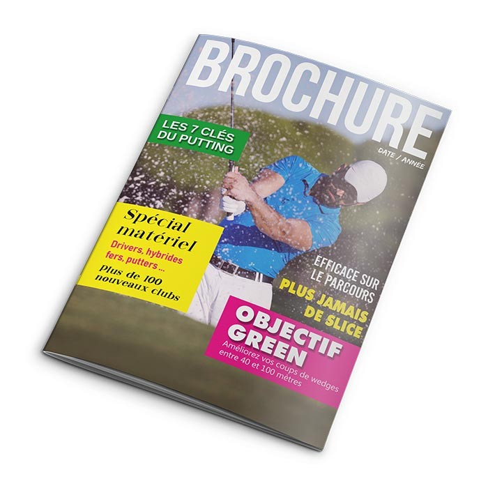 Brochure A4 12 pages sans couverture - 100 ex