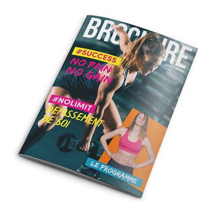 Brochure A5 8 pages sans couverture - 200 ex
