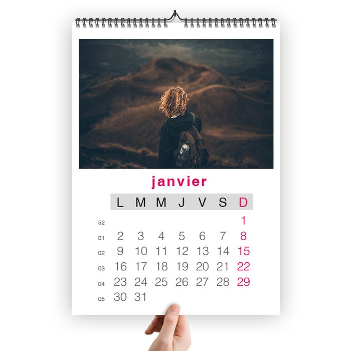 Impression de 100 calendriers a3 mural spirales 30 x 42 cm for Calendrier mural pas cher