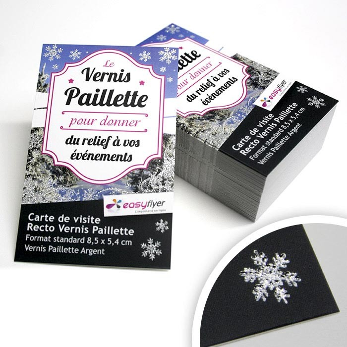 Flyers Recto vernis Paillette – 500 ex