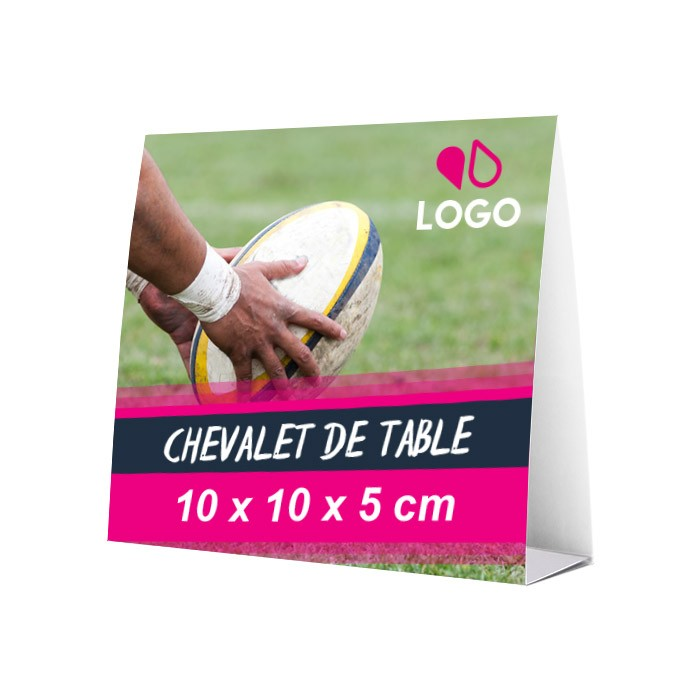 Chevalet de table 10 x 10 x 5 cm – 25 ex