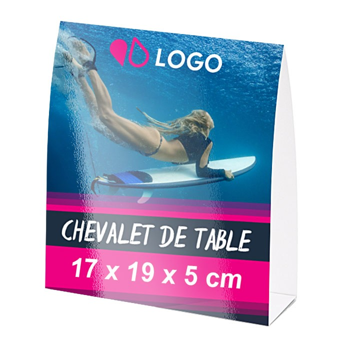 Chevalet de table 17 x 19 x 5 cm – 25 ex