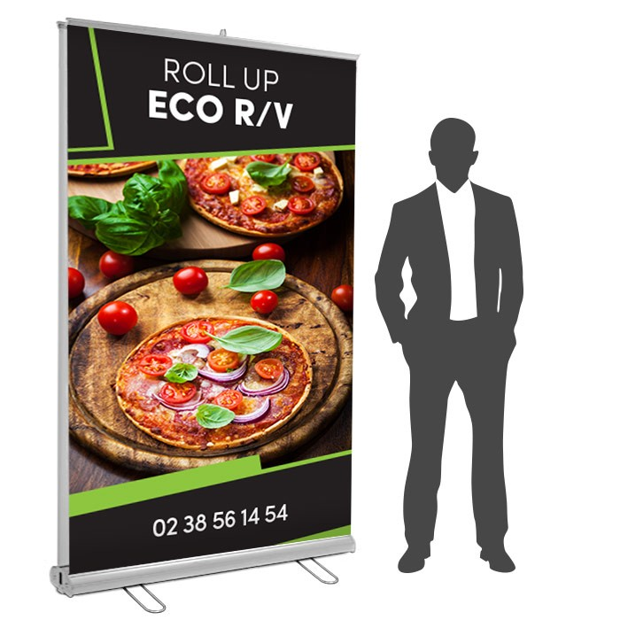 Roll UP Eco recto verso 150 x 200  cm – 3 ex