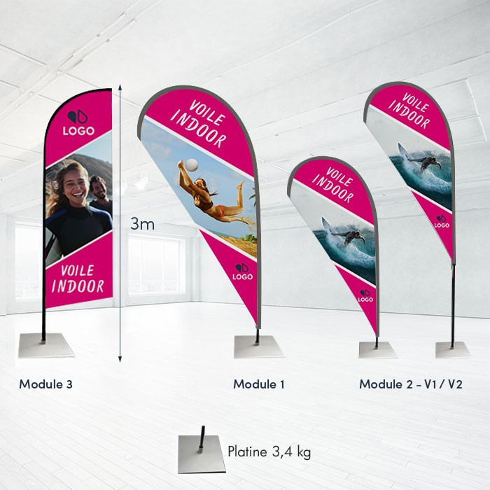 Voile Indoor modulable - 16 ex