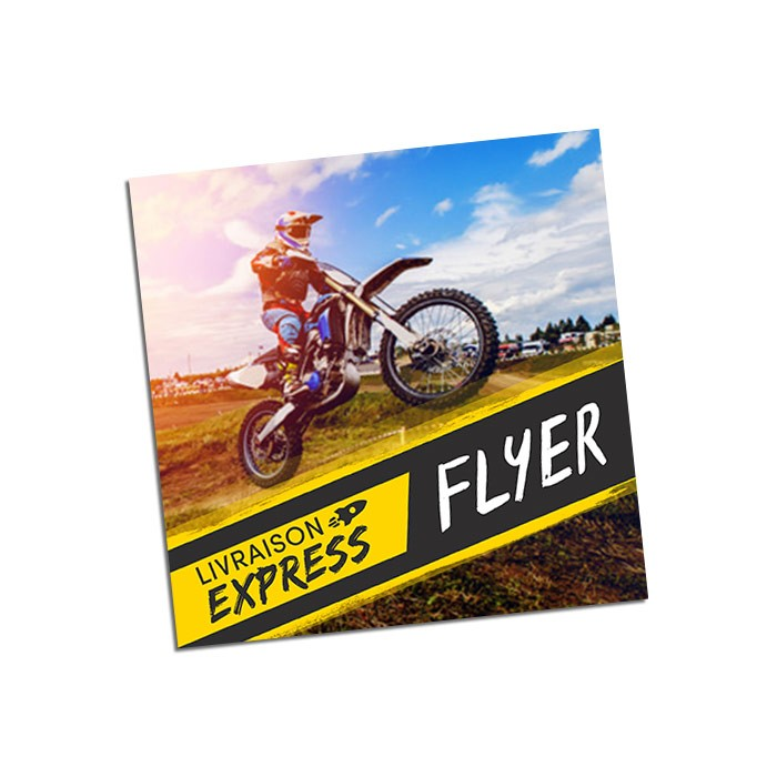 Flyers Express 48h Recto 15x15 300g - 100 ex