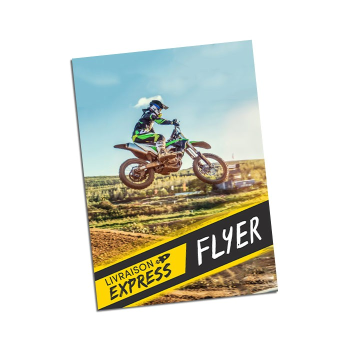 Flyers Express 48h Recto 15x21 300g - 100 ex