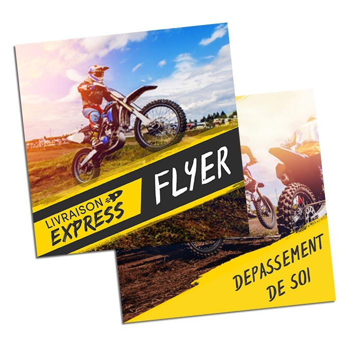 Flyers Express 48h Recto Verso 15x15 300g - 100 ex