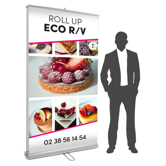Roll UP Eco recto verso 125 x 200  cm – 9 ex
