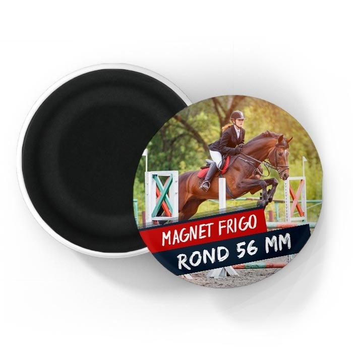 Magnet rond bombé 56 mm - Finition mate