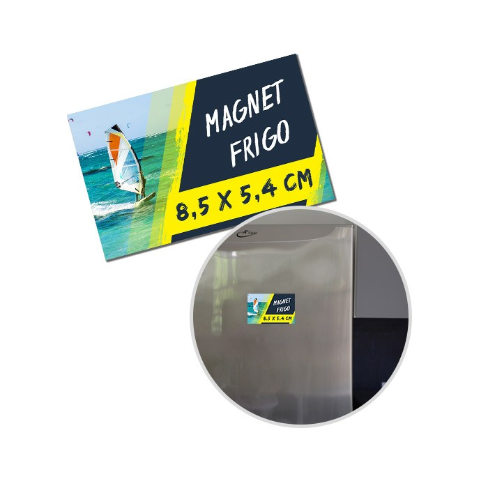 Magnets publicitaires 85 x 54 mm - 50 ex
