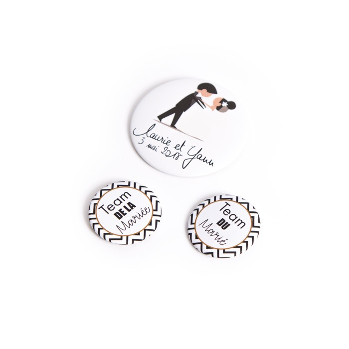 badge epingle express personnalis 45mm evjf mariage. Black Bedroom Furniture Sets. Home Design Ideas