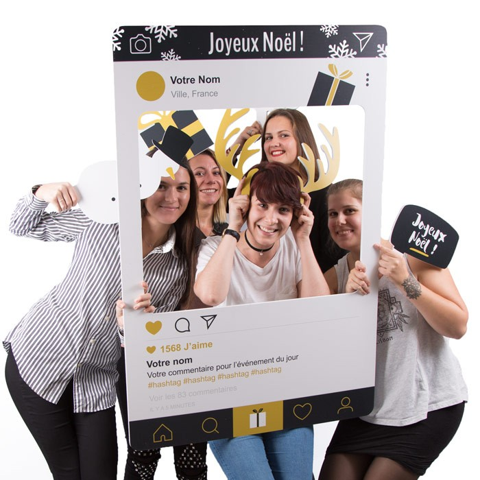 "Cadre à Selfie ""Photo Booth"" Noël"