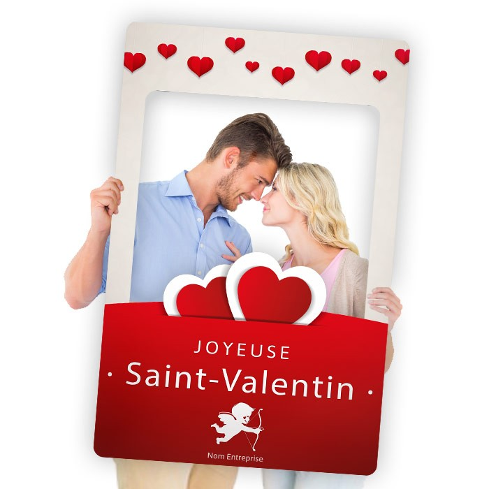 "Cadre à Selfie ""Photo Booth"" Saint-Valentin"