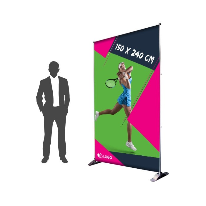 Photocall 150 x 240 cm Recto - Sublimation M1 220g