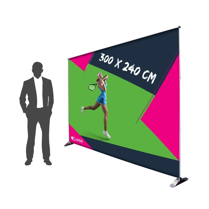Photocall 300 x 240 cm Recto - Sublimation M1 220g