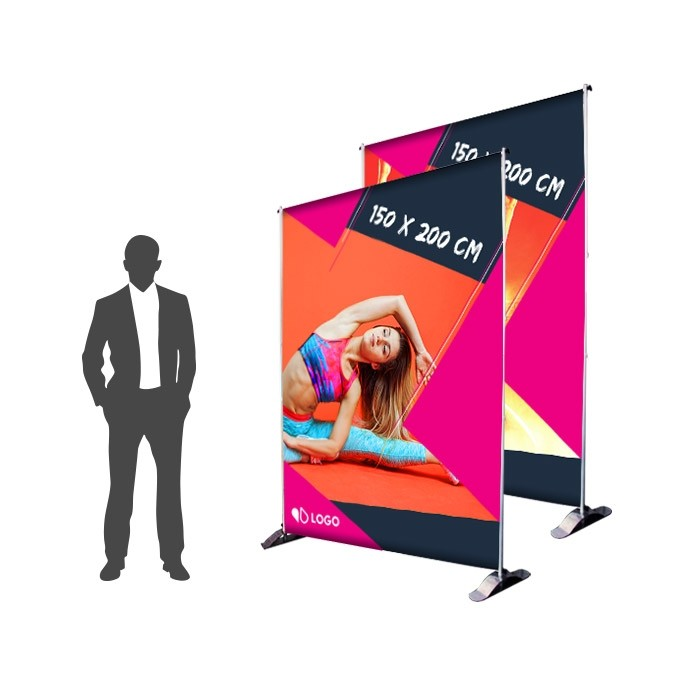 Impression Photocall 150 x 200 cm Recto Verso - Sublimation M1 220g
