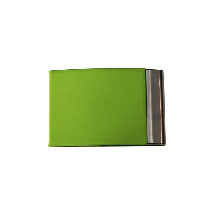 Porte cartes de visite simili-green