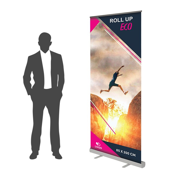 Roll Up Eco Recto 85 x 200 cm – 50 ex