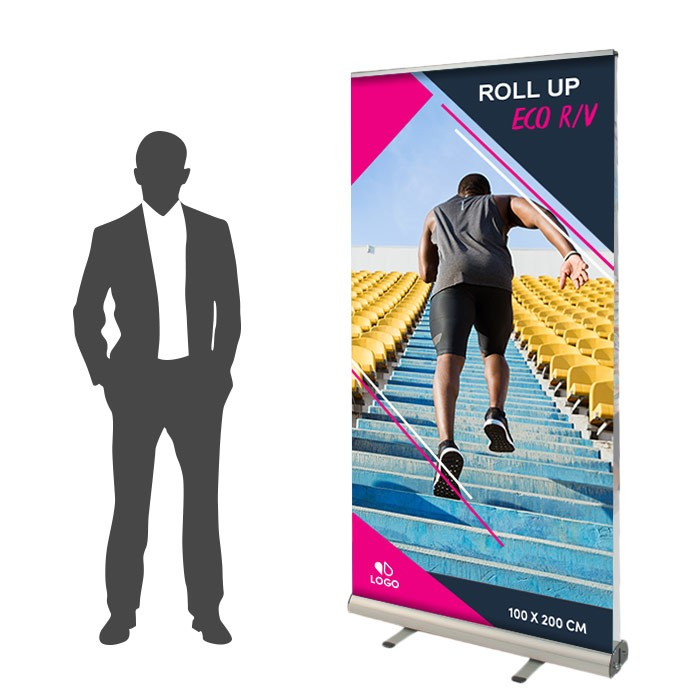 Roll Up Eco Recto/Verso 100 x 200 cm - 3 ex