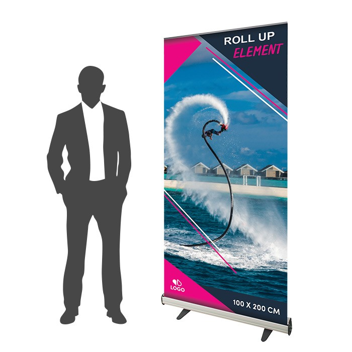 Roll Up Element 100 x 200 cm - 1 ex