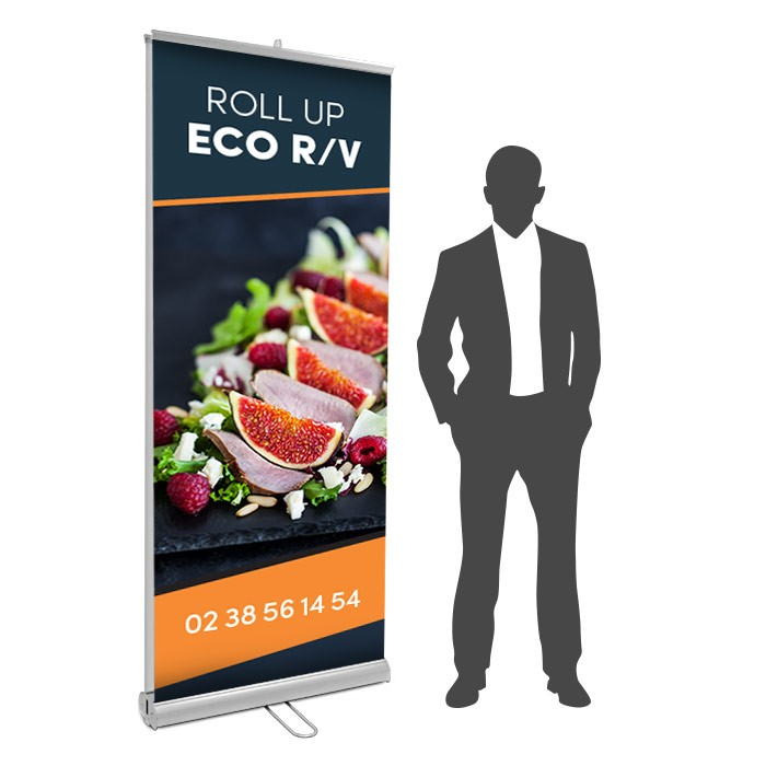 Roll UP Eco recto verso 85 x 200  cm – 4 ex