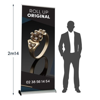 Roll UP Original recto 100 x 214 cm – 9 ex