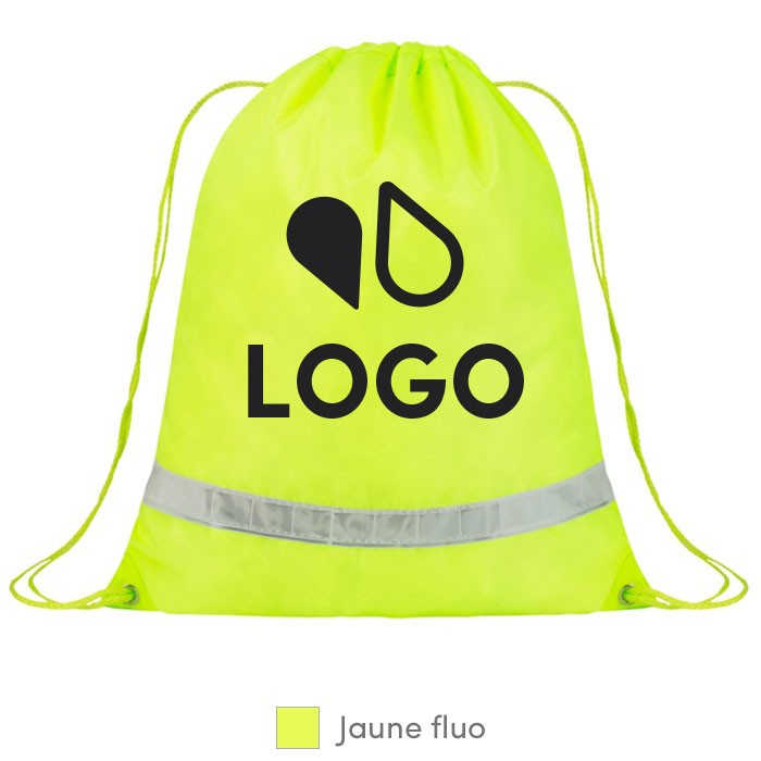 sac dos fluorescent avec cordon gym bag fluo personnalis. Black Bedroom Furniture Sets. Home Design Ideas