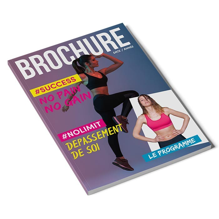 Brochure carré collé A5 64 pages - 50 ex