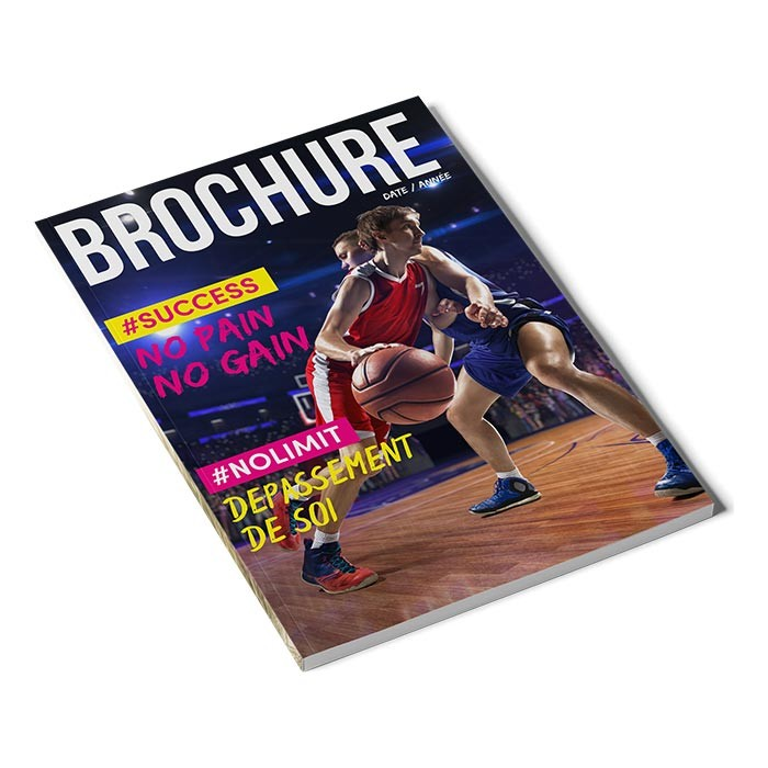 Brochure carré collé A4 96 pages - 1000 ex