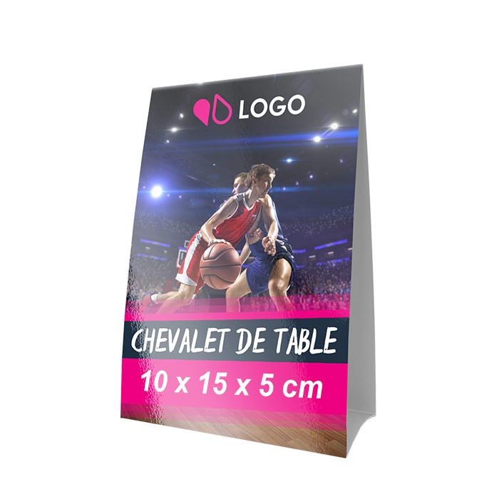 Chevalet de table 10 x 15 x 5 cm – 250 ex