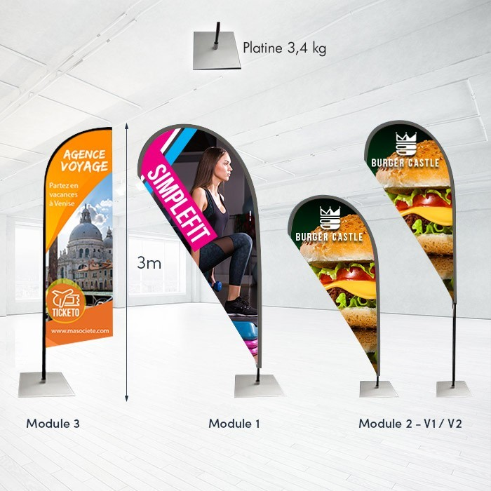 Voile Indoor modulable - 2 ex