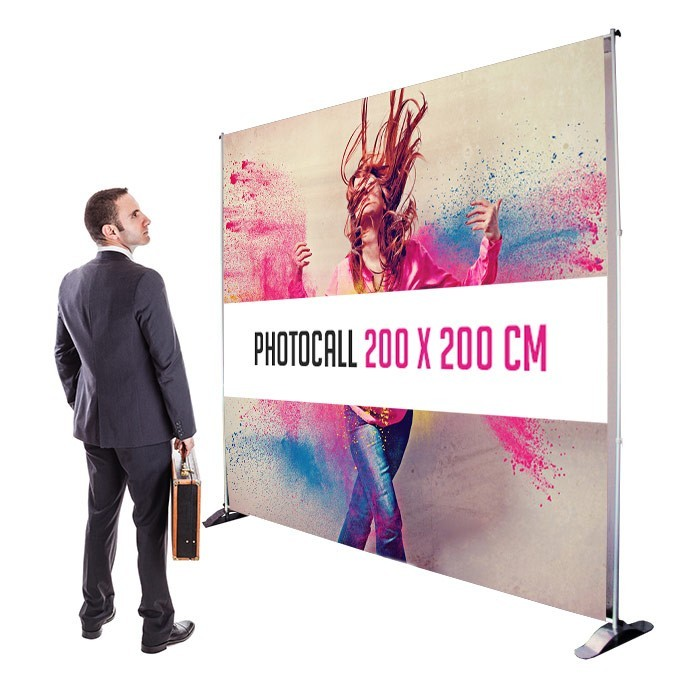 Photocall 200 x 200 cm Recto - Sublimation M1 220g