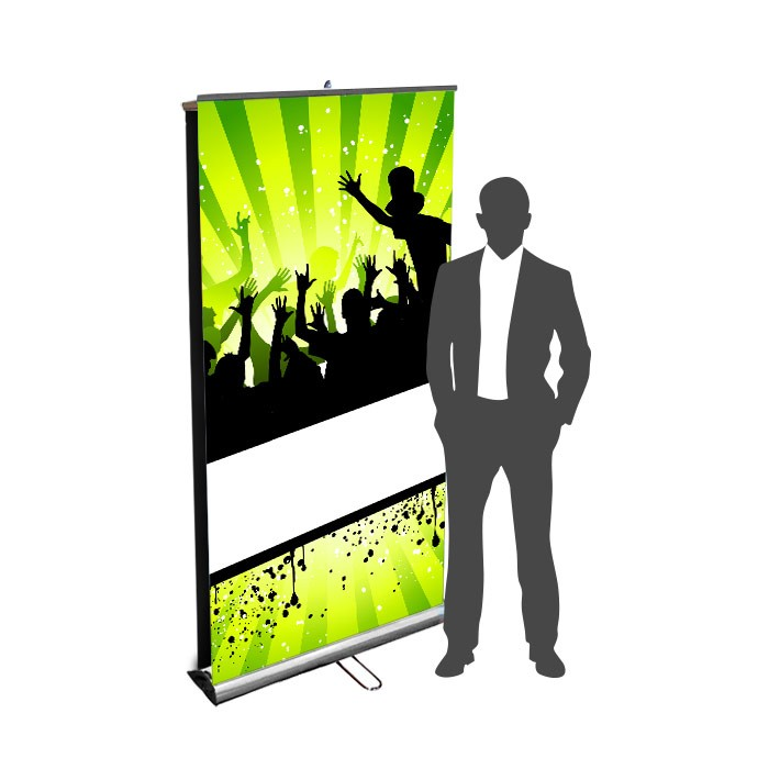 Roll UP Eco recto verso 85 x 200  cm – 2 ex
