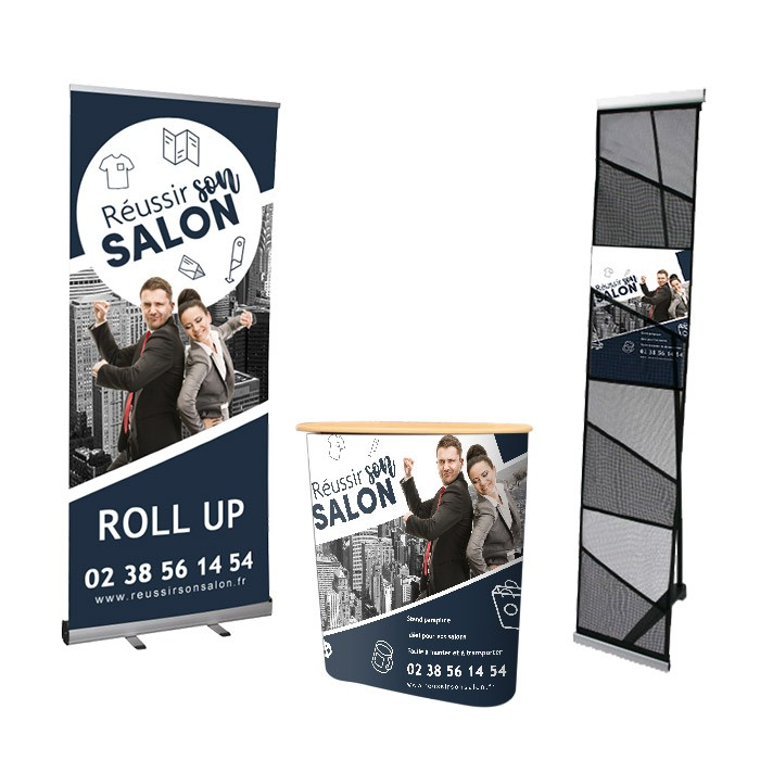 Impression plv stand salon Pack 6m²