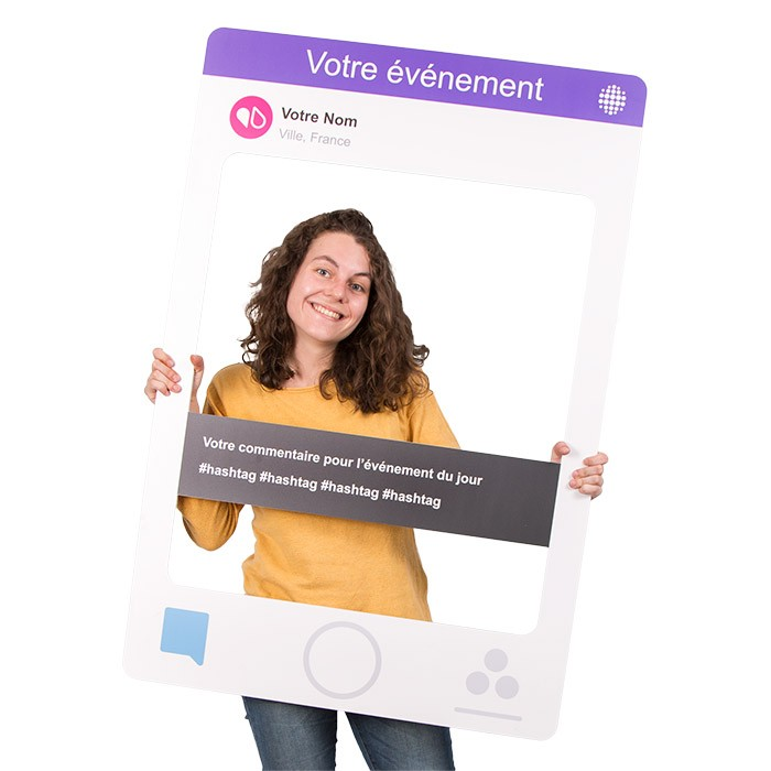 "Cadre à Selfie ""Photo Booth"" Personnalisable (Type Snapchat)"