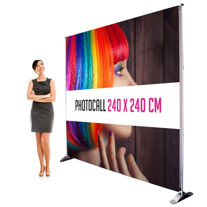 Impression Photocall 240 x 240 cm Recto Verso - Sublimation M1 220g