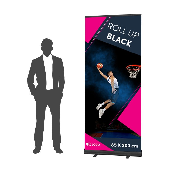 Roll Up Black 85 x 200 cm – 4 ex